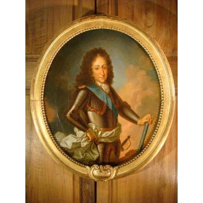 Tableau Portrait Du Maréchal De Luxembourg - Epoque XVIII ème