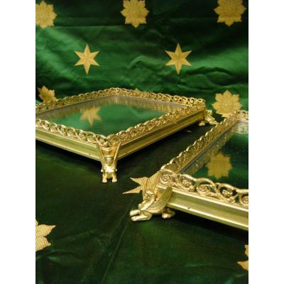 Pair Of Trays Especially Table In Gilt Bronze