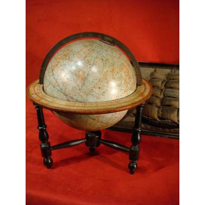 Globe Sphere Celeste From Malby's Library 1850