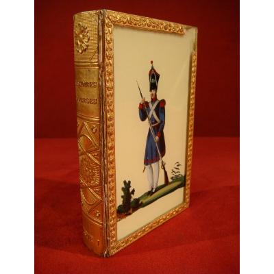 Book Box Fixed Under Military Glass - Charles X Period