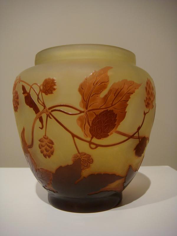 Emile Gallé Vase Aux Fleurs De Houblon - Epoque Art Nouveau -photo-2
