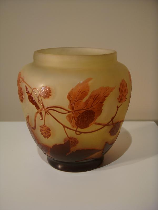 Emile Gallé Vase Aux Fleurs De Houblon - Epoque Art Nouveau -photo-3
