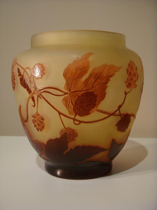 Emile Gallé Vase Aux Fleurs De Houblon - Epoque Art Nouveau -photo-4