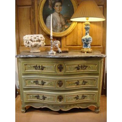 Curved Lacquered Wood Commode - Eighteenth Time