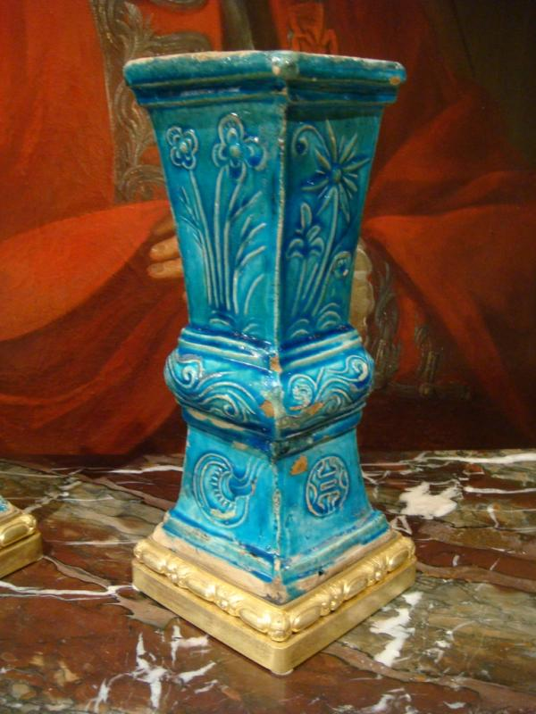 Paire De Vases En Ceramique - Chine Epoque XVIII ème Siècle -photo-3