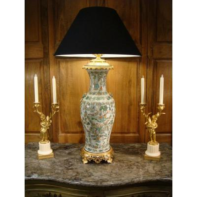 Important Porcelain And Gilt Bronze Lamp Vase - China