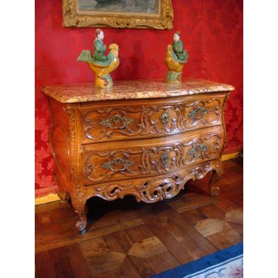 Commode Galbée Arlésienne Provence Epoque XVIII ème