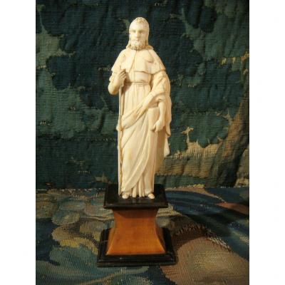 Jacques De Zébédée Sculpture In Ivory - Eighteenth Time