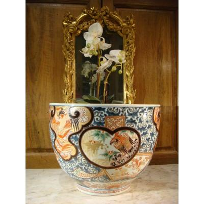 Porcelaine Imary Grand Cache Pot - Epoque XIX ème