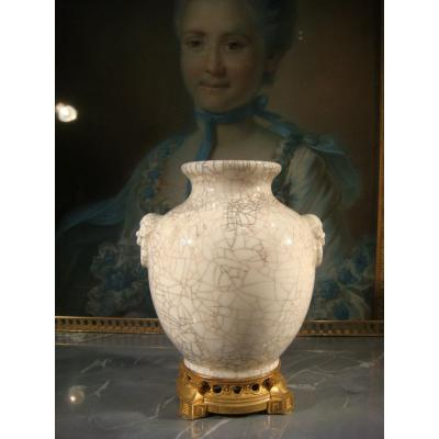 Bronze Mounted Porcelain Vase