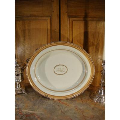 Plat Ovale En Porcelaine De La Compagnie Des Indes - Directoire