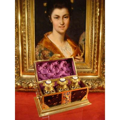 Tortoiseshell And Enamel Perfume Box - Second Empire Period