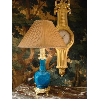 Bronze Mounted Ceramic Lamp