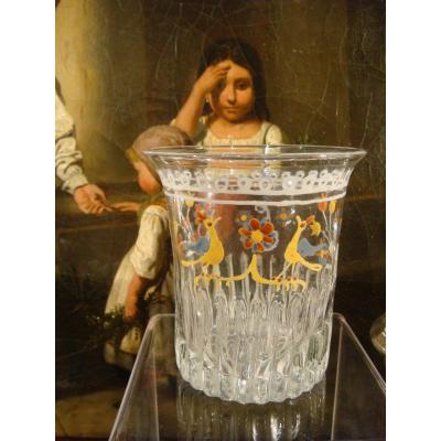 Norman Glass Of Friendship Or Marriage - Early XIXth Century