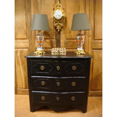 Small Blackened Lacquered Commode - Eighteenth Time