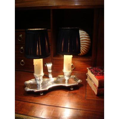 Bougeoir à Main Monté En Lampe De Style Louis XIV