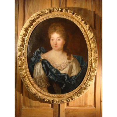 Tableau De Mme Anne De Caumont Portrait XVIII ème