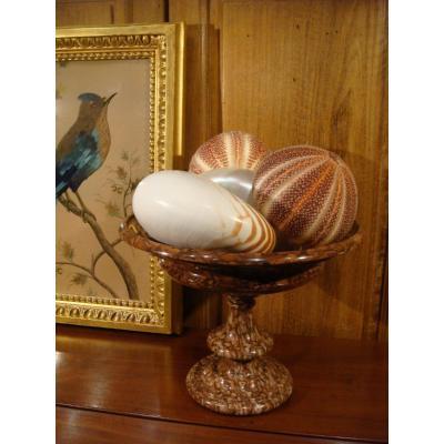 Red Verona Marble Cup - Napoleon III Period