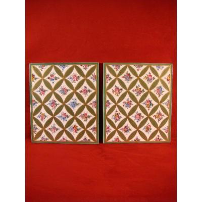 Pair Of Sèvres Porcelain Plates - Eighteenth Time