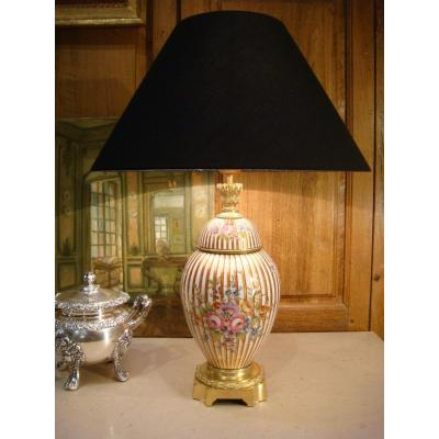 Porcelain And Bronze Lamp