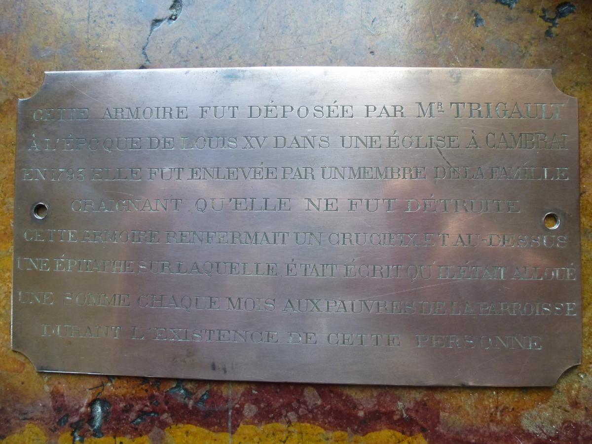 Copper Plate Engraved With Register History Of The City Of Cambrai