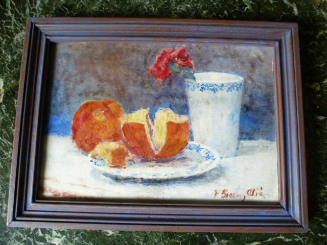 Peinture à l'Huile Sur Carreau De Plàtre Par Pere Ysern Y Alié