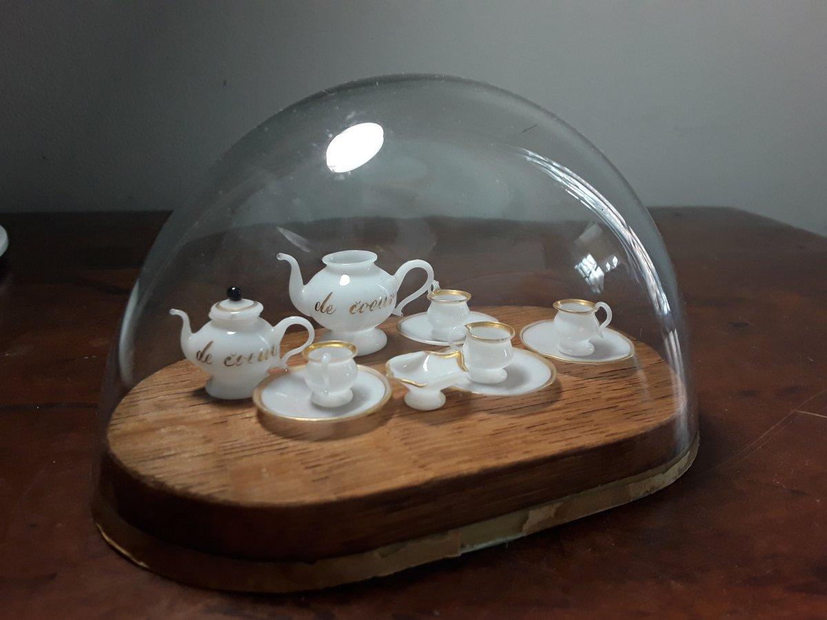 Service Miniature De Poupee En Opaline Debut Du 19eme Siecle-photo-2