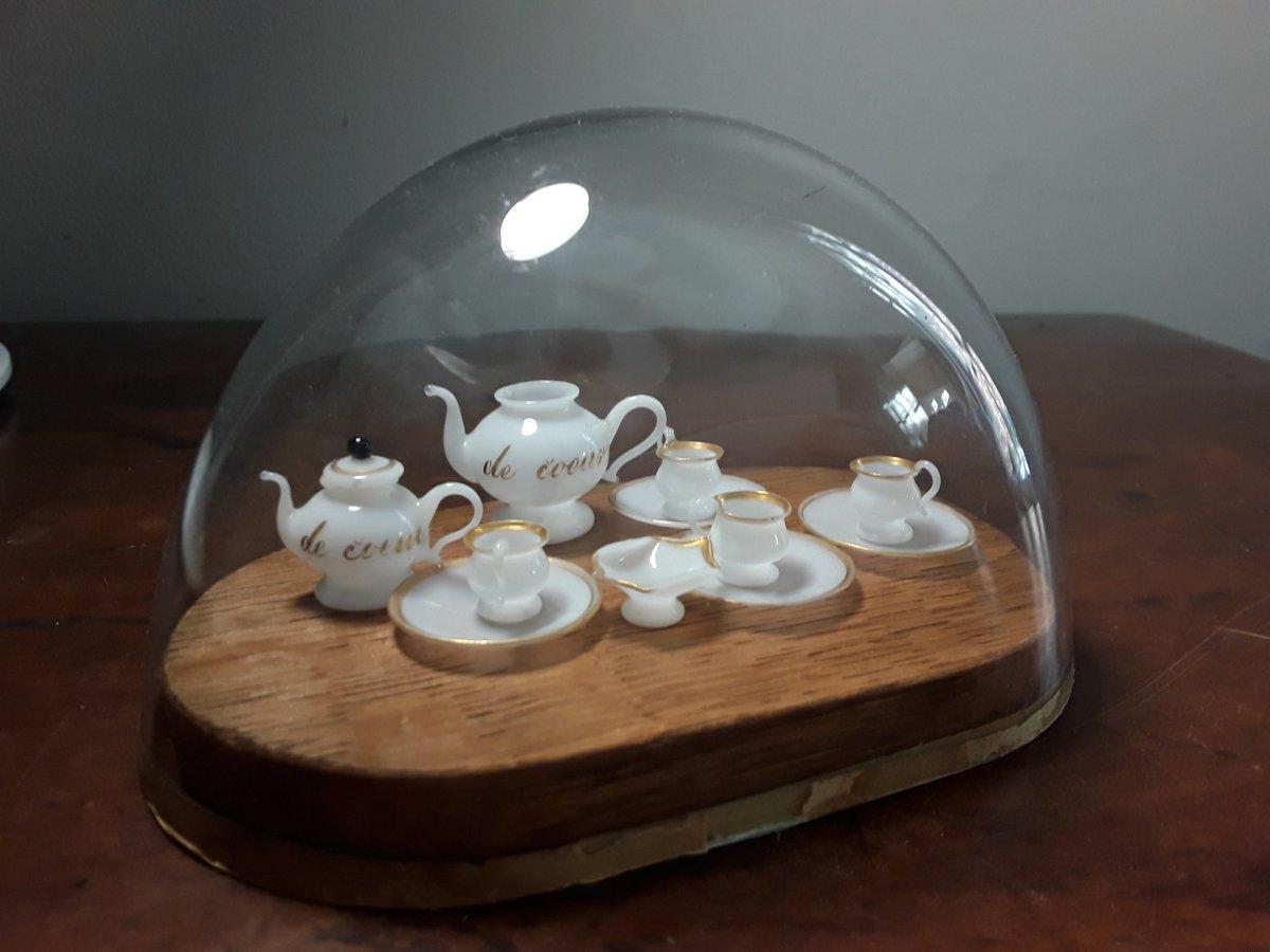 Service Miniature De Poupee En Opaline Debut Du 19eme Siecle-photo-3
