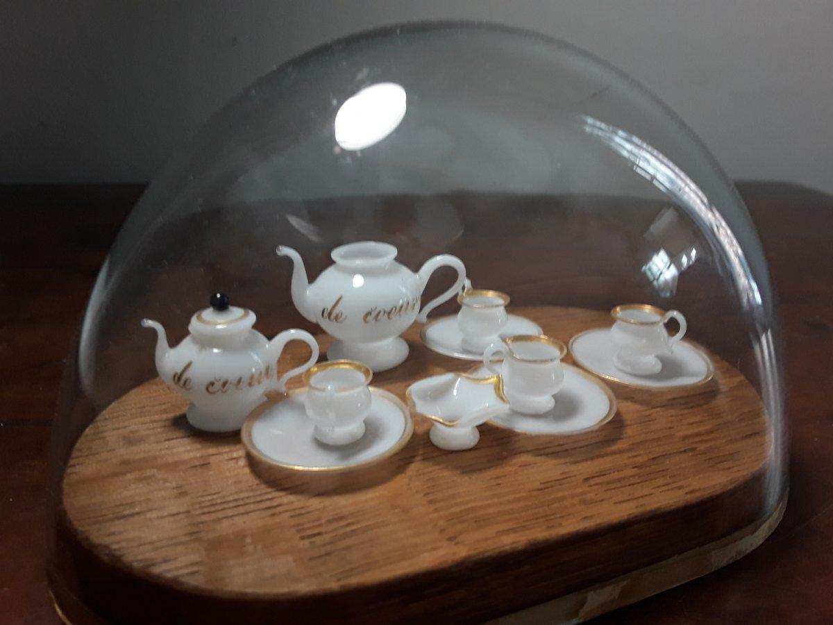 Service Miniature De Poupee En Opaline Debut Du 19eme Siecle-photo-4
