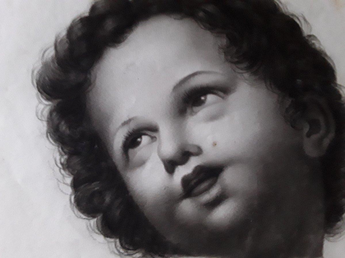 Dessin 19ème  Portrait d'Enfant