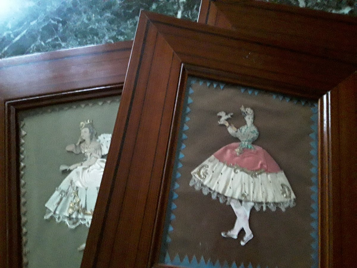 Trois Gravures Habillées  Epoque Napoléon III