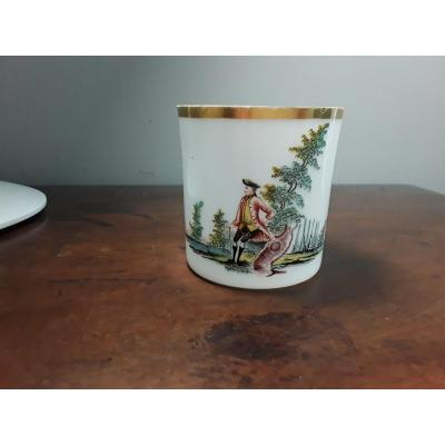 Right Mug In Opaline Glass 18th Siecke