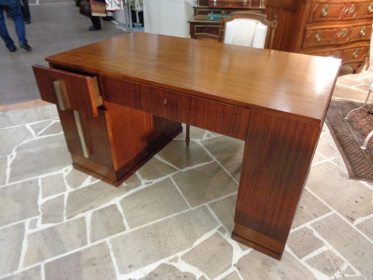 Mahogany Art Deco Period Desk-photo-2