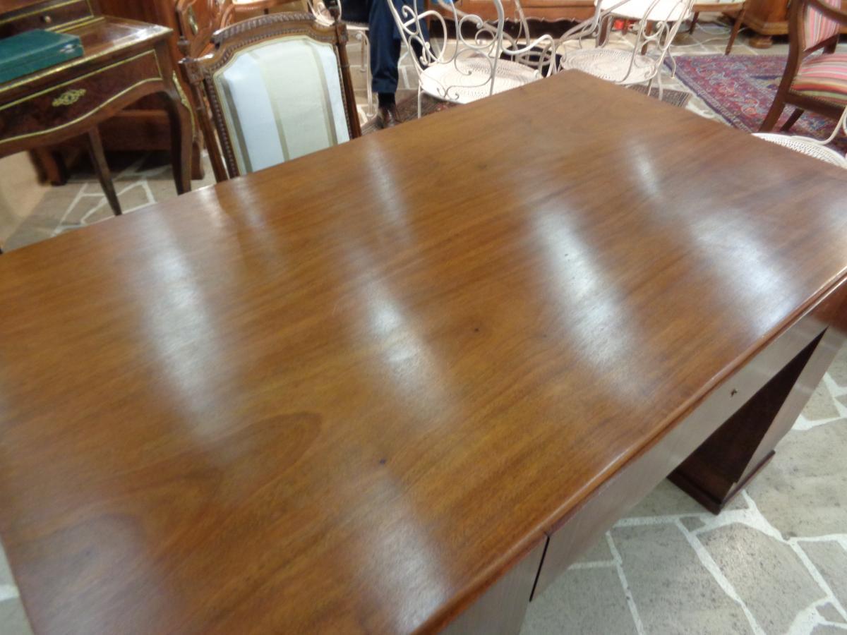 Mahogany Art Deco Period Desk-photo-3