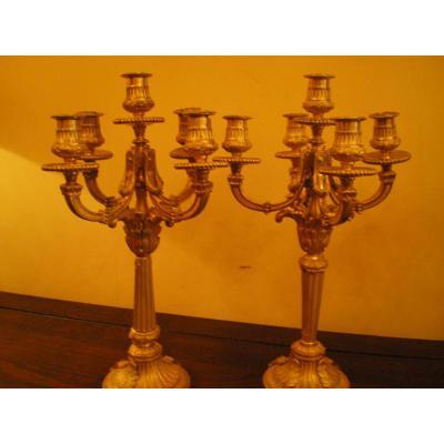 chandeliers en bronze