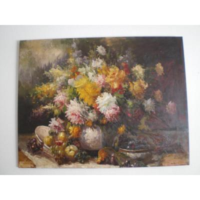 Grand Tableau De Fleurs