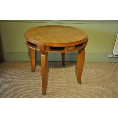 Jules Leleu Pedestal Table