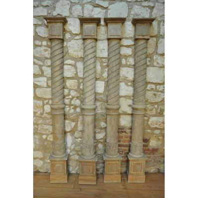 Demi-colonnes En Tilleul