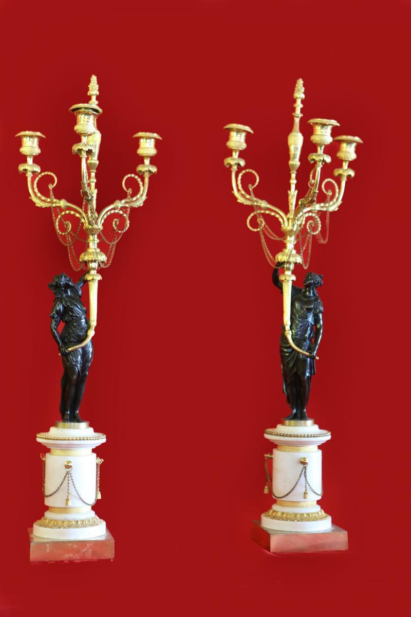 Candelabres d'epoque Louis XVI