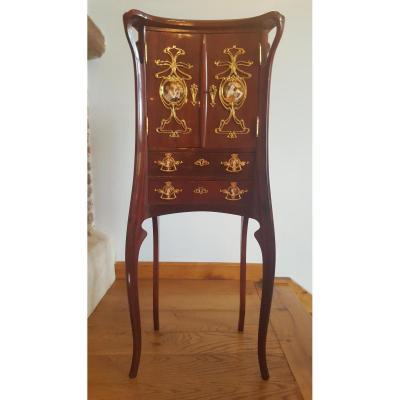 autre meuble ancien sur proantic art nouveau. Black Bedroom Furniture Sets. Home Design Ideas