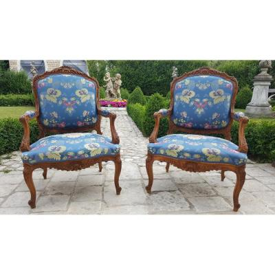 "Pair Of ""regency Style"" Armchairs"