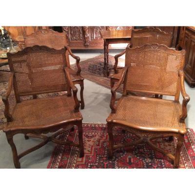 Paire de  fauteuils d époque Regence