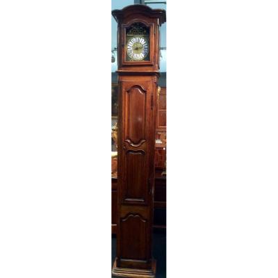 Horloge De Parquet En Noyer d'époque Louis XIV
