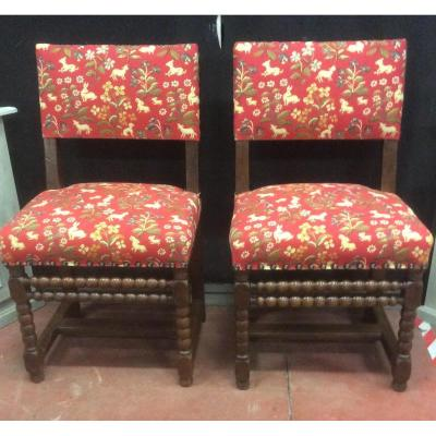 Pair Of Louis XIII Period Chairs