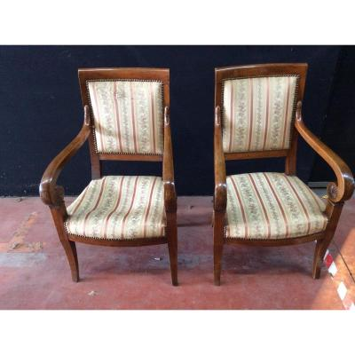Pair Of Armchairs Period 19 Eme