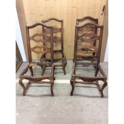 Suite Of 4 Louis XV Chairs