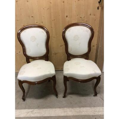 Pair Of Chairs Louis Philippe Period