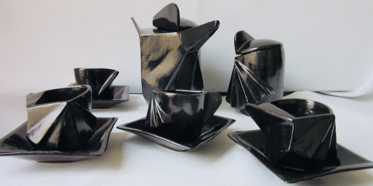 Service à Café Moderniste En Céramique