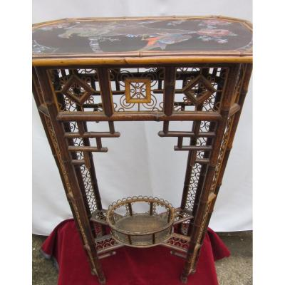 Guéridon - Console XIXème Orientaliste
