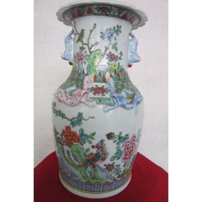 Vase  Chinois En Porcelaine Au Phénix